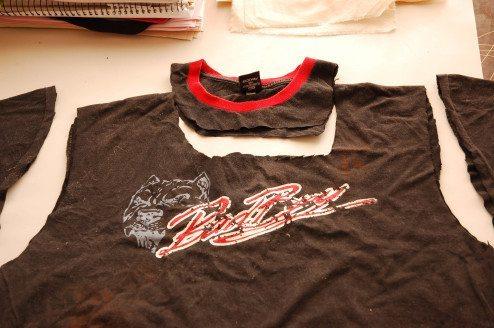 ecobag sem costura feita a partir de uma camiseta